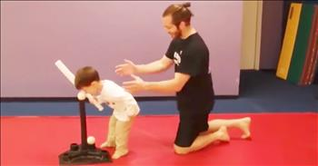 Funny Kid Follows Dad's Advice Literally