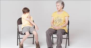 Children Meet Woman With Alzheimer's
