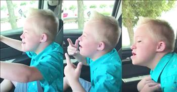 Boy With Down Syndrome Sings Whitney Houston Classic