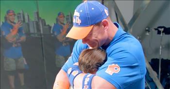 Wrestler John Cena Cries Over Fan Surprise