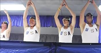 Older Men Perform Funny Synchronized Swimming Routine