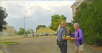 Dashcam Captures Police Officer Dancing With 92-Year-Old