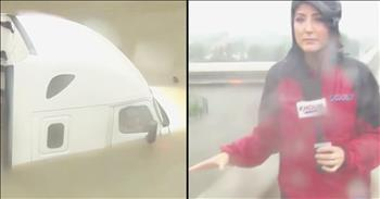 Reporter Helps Rescue Man Trapped In Flood Waters
