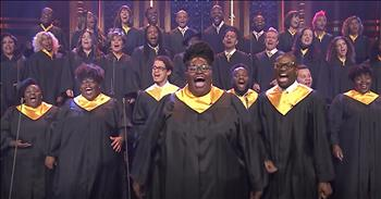Houston Gospel Choir Sings 'Lean On Me'