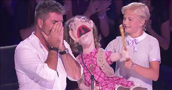 13-Year-Old Ventriloquist Performs Song For Simon