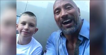 The Rock Meets 10-Year-Old Hero