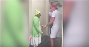 Funny Grandma Misses Marine Grandson's Homecoming