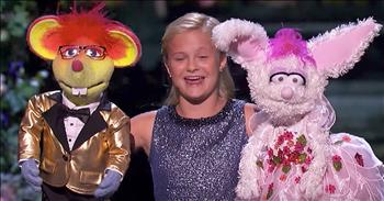 13-Year-Old Ventriloquist Sings 'With A Little Help From My Friends'