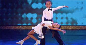 Little Dancing Duo Gives Big Performance