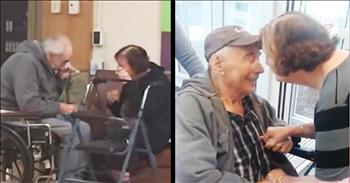 Elderly Couple Reunite After Living Separately