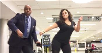 Woman Makes Viral Dance Video In Empty Airport