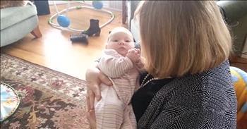 Baby Sings Along With Grandma