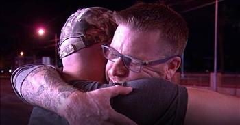 Man Reunites With Hero After Las Vegas Shootings