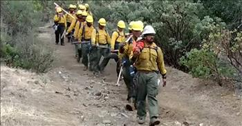 Samoan Firefighters Sing Hymn While Marching