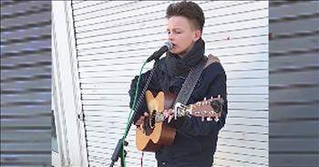 Teenager Performs 'Hallelujah' On The Street
