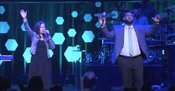 Couple Performs 'What A Beautiful Name' From Hillsong