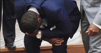 Groom Drops To Knees Seeing Bride