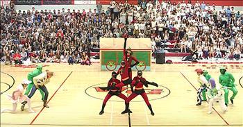 Dance Team Performs Disney Routine