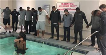 Eagles Football Player Baptized In Hotel Pool
