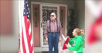 Veteran Finally Sees The US Flag