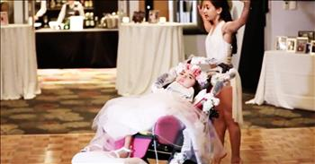 Daughters Perform Special Dance At Mom's Wedding
