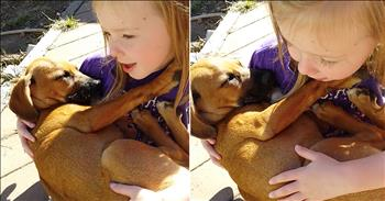Girl Sings Lullaby To Rescue Pup