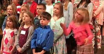 Girl Dances To 'Old Church Choir'