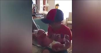 Big Brother With Autism Meets His Baby Sibling