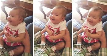 Baby Laughs At Dad's Talk About Boys