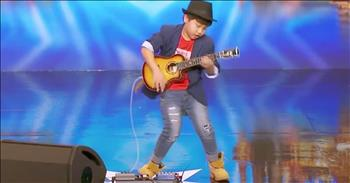 Tiny Guitarist Stuns The Crowd With Audition