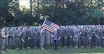 Military Widow Uses Late Husband's Friends For Gender Reveal