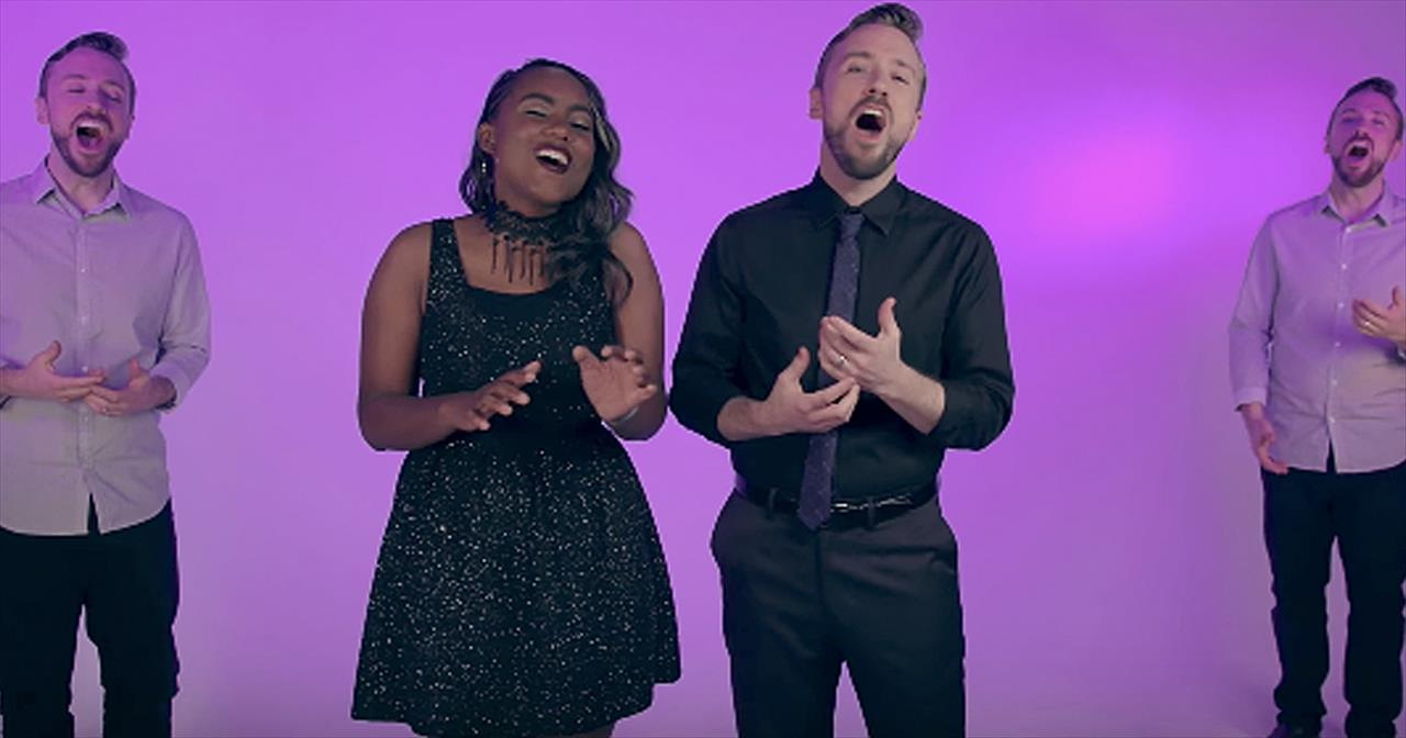 'O Holy Night' - Peter Hollens And Jamie Grace A Cappella