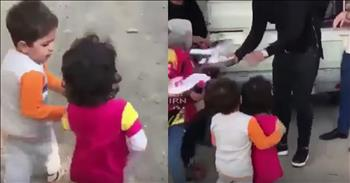 Little Boy Makes Sure His Friend Gets Food First