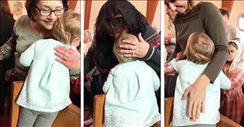 Toddler Hugs Everyone At Her Church