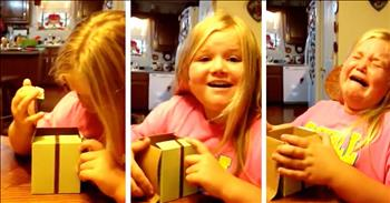Girl Cries When She Becomes A Big Sister