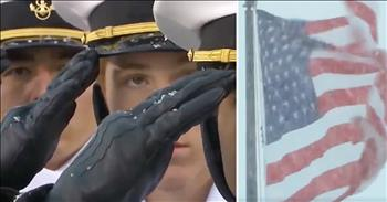 Army And Navy Glee Club Sing The National Anthem