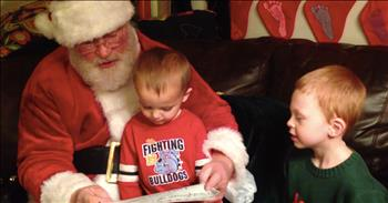 Santa Helped A Family Adopt Three Boys For Christmas