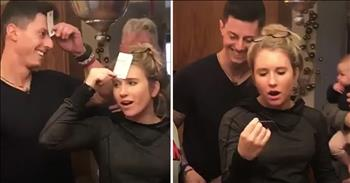Surprise Marriage Proposal With Card Trick