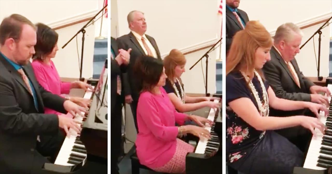 4 Church Pianists Perform Impromptu Hymn Medley - Inspirational Videos