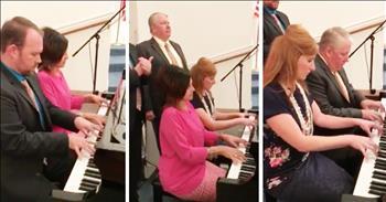 4 Church Pianists Perform Impromptu Hymn Medley