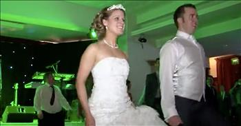 Bride And Groom Riverdance At Wedding