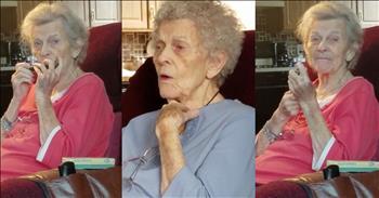 Grandma With Alzheimer's Plays The Harmonica