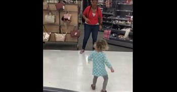 Target Employee Has Dance Off With A Toddler