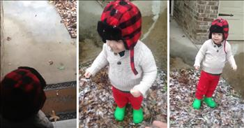Florida Toddler Sees Snow For The First Time