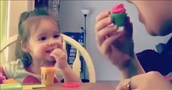 Mom Makes Deaf Daughter Laugh With Play-Doh Joke