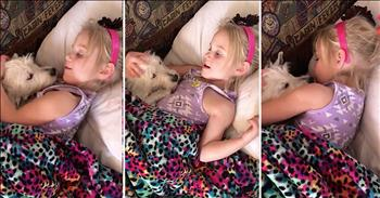 4-Year-Old Sings Puppy To Sleep