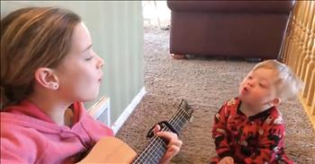 Sister Sings 'You Are My Sunshine' To Brother With Down Syndrome