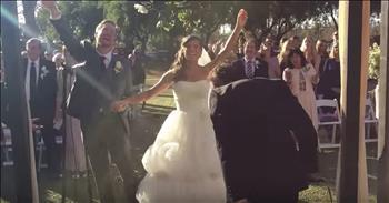 Couple Stops Their Wedding To Worship