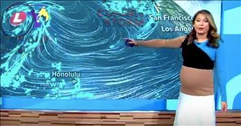 Pregnant Meteorologist Responds To Internet Body Shamer
