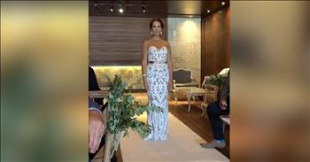 Bride Signs To Deaf Groom Walking Down The Aisle